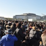 Standing in line for Comiket