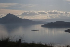 The lake we passed on our way to Delphi