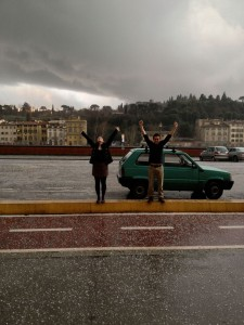 brenna-and-cam_hail-on-the-arno