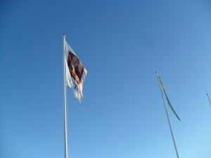 Flag pole in Mora