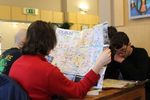 Studying the map of Dublin