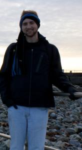 Nick Gersch in Galway, by the coast.