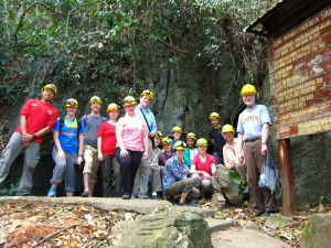 Our Group at the Gua Wang Burma One and Two Entrance