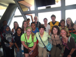 The group at the KL tower
