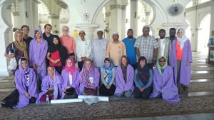 Group Inside the Kapitan Keling Mosque