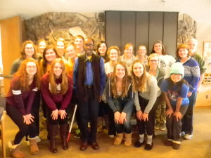Dr. Joseph L. Mbele. St. Olaf College, spoke with the group about his book African and Americans: Embracing Cultural Differences, this afternoon.
